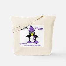 Winter Penguin 2 Hodgkin's Lymphoma Tote Bag