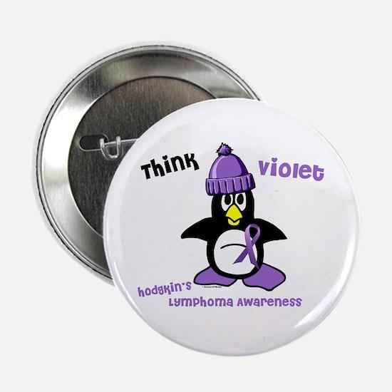 "Winter Penguin 2 Hodgkin's Lymphoma 2.25"" Button"