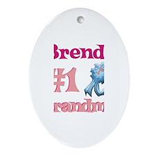 Brenda - #1 Grandma Oval Ornament