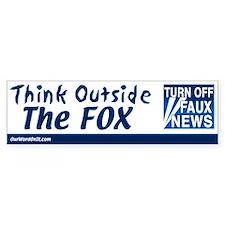 Bumper Sticker: Think Outside the Fox