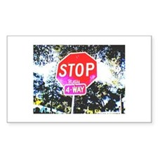 Stop Bush Rectangle Decal