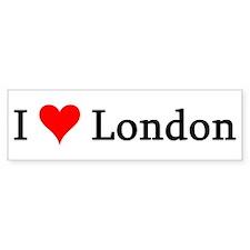 I Love London Bumper Bumper Sticker