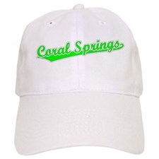 Retro Coral Springs (Green) Baseball Cap