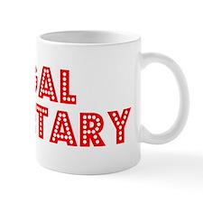 Retro Legal Secre.. (Red) Small Mug
