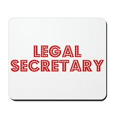 Retro Legal Secre.. (Red) Mousepad