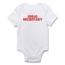Retro Legal Secre.. (Red) Onesie