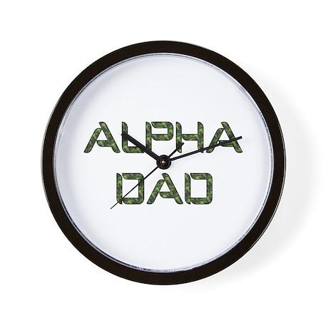 Alpha Dad Wall Clock