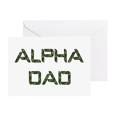 Alpha Dad Greeting Card