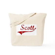 Scott (red vintage) Tote Bag