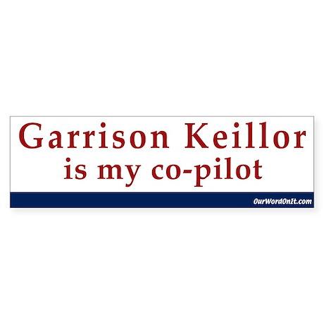 Bumper Sticker:Keillor copilot