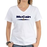 John McCain 2008 Women's V-Neck T-Shirt