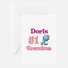 Doris - #1 Grandma Greeting Card