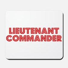 Retro Lieutenant .. (Red) Mousepad