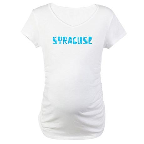 Syracuse Faded (Blue) Maternity T-Shirt