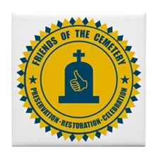 Friends Of The Cemetery Tile Coaster
