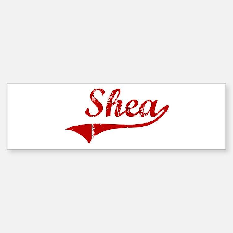 Shea (red vintage) Bumper Bumper Bumper Sticker
