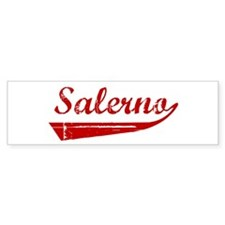 Salerno (red vintage) Bumper Bumper Sticker