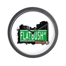 FLATBUSH AV, BROOKLYN, NYC Wall Clock
