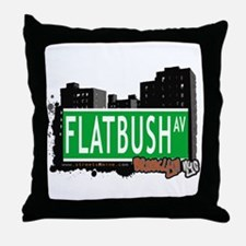 FLATBUSH AV, BROOKLYN, NYC Throw Pillow