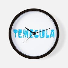 Temecula Faded (Blue) Wall Clock