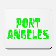 Port Angeles Faded (Green) Mousepad