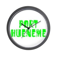 Port Hueneme Faded (Green) Wall Clock