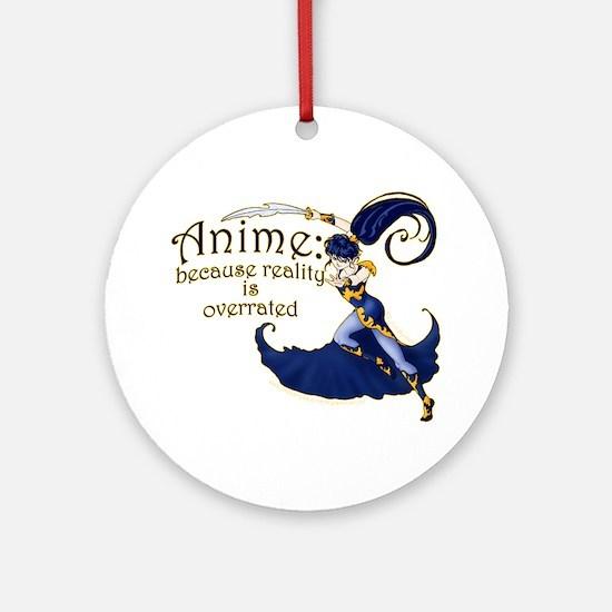Fun Anime Fan Design Ornament (Round)