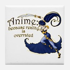 Fun Anime Fan Design Tile Coaster