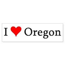 I Love Oregon Bumper Bumper Sticker
