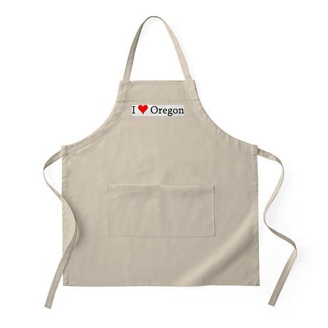 I Love Oregon BBQ Apron