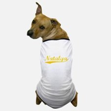 Vintage Natalya (Orange) Dog T-Shirt