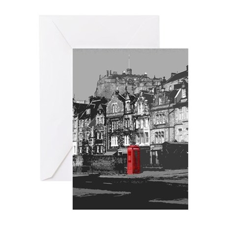 Edinburgh Castle From Grassmarket Greeting Cards (