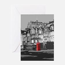 Edinburgh Castle From Grassmarket Greeting Card