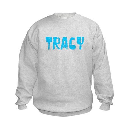 Tracy Faded (Blue) Kids Sweatshirt