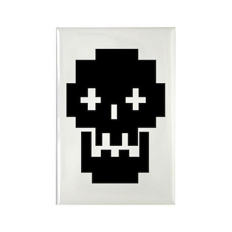 8-Bit Skull Rectangle Magnet (10 pack)