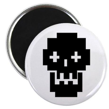 8-Bit Skull Magnet