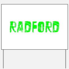 Radford Faded (Green) Yard Sign