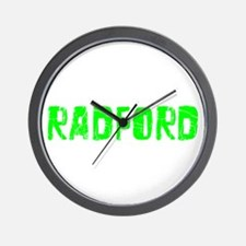 Radford Faded (Green) Wall Clock