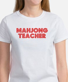 Retro Mahjong Tea.. (Red) Women's T-Shirt