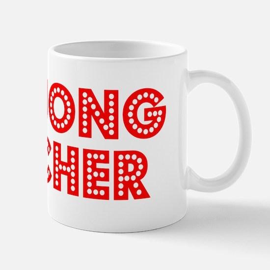 Retro Mahjong Tea.. (Red) Mug