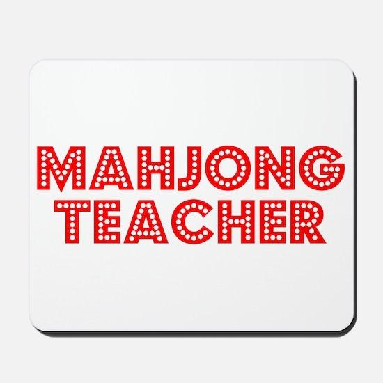 Retro Mahjong Tea.. (Red) Mousepad