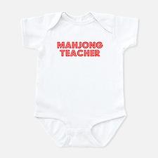 Retro Mahjong Tea.. (Red) Infant Bodysuit