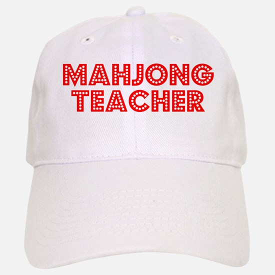 Retro Mahjong Tea.. (Red) Cap