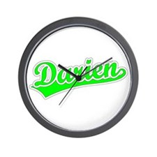 Retro Darien (Green) Wall Clock