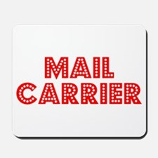 Retro Mail carrier (Red) Mousepad