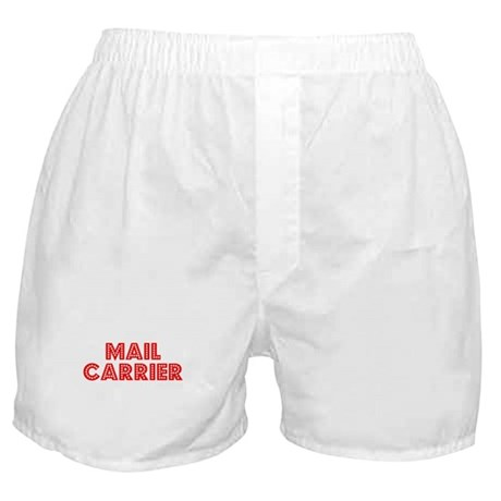 Retro Mail carrier (Red) Boxer Shorts