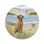 Rowboat/Lab (y)Ornament (Round)