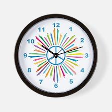 Peace Symbol Star Wall Clock