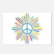 Peace Symbol Star Postcards (Package of 8)