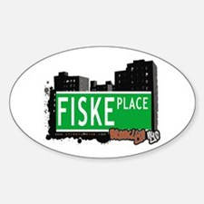 FISKE PLACE, BROOKLYN, NYC Oval Decal